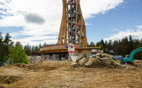Die Baustelle am Pyramidenkogel Mai 2013