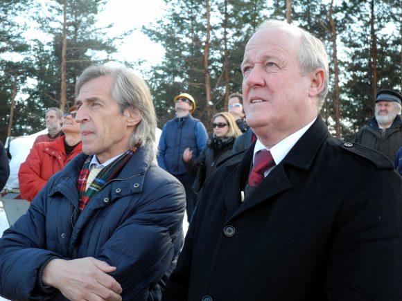 Bauherren Friedrich Morri (li) und Bgm. Gerhard Oleschko