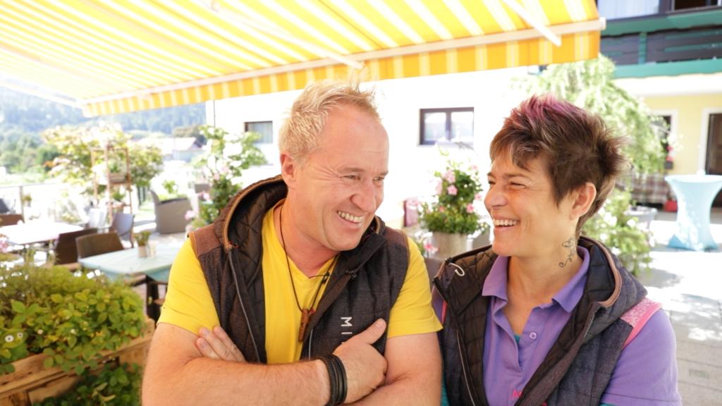 Marion und Alexander im Seerestaurant MITanond in Keutschach