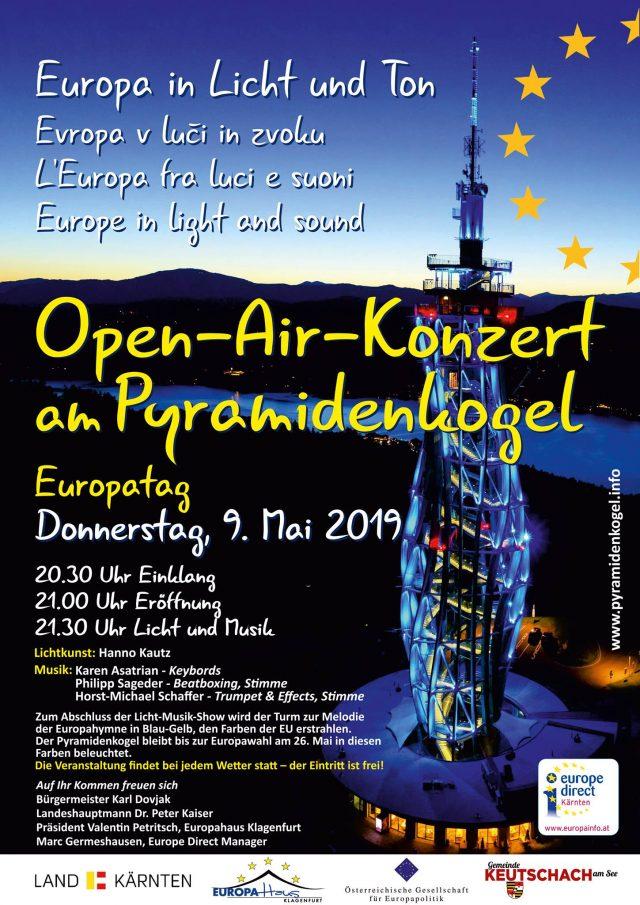 Open Air Konzert Europatag am Pyramidenkogel
